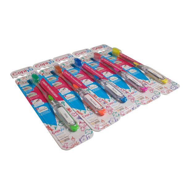 Foto de un pack 5 cepiyos: cepillos de dientes de Cepiyo